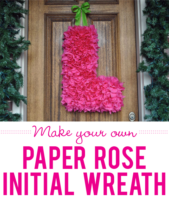How to make a tissue paper rose initial wreath