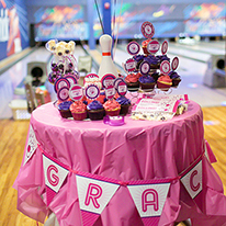 Pink bowling party