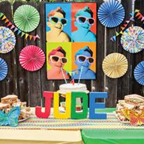 Rainbow pop art birthday party