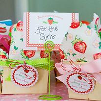 Strawberry theme 1st birthday