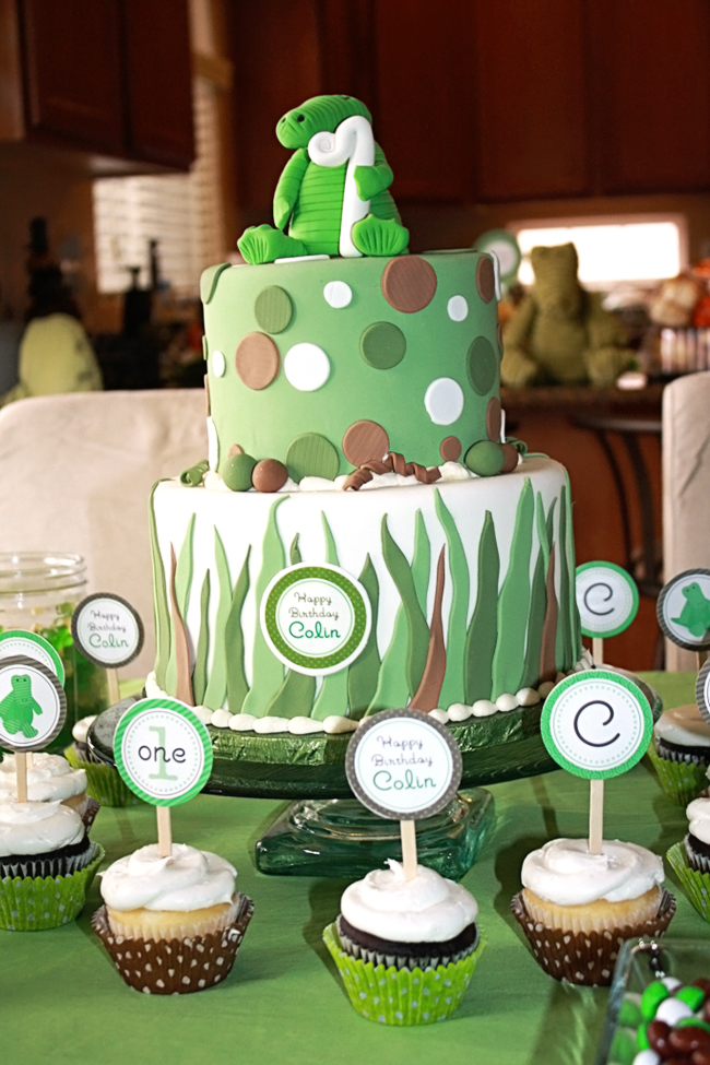 Alligator theme birthday party! Printables from Chickabug