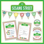 Sesame Street party!! Invitations, stickers, water labels, party printables, and lots more! #Chickabug #SesameStreetParty