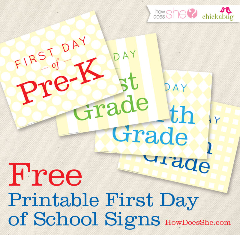 graphic about First Day of Pre K Sign Printable called Totally free! Initially working day of college printables Chickabug