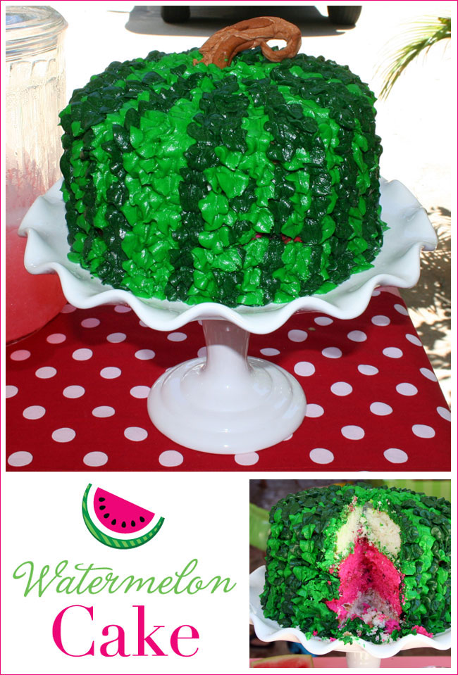 How to make a watermelon cake - recipe included!