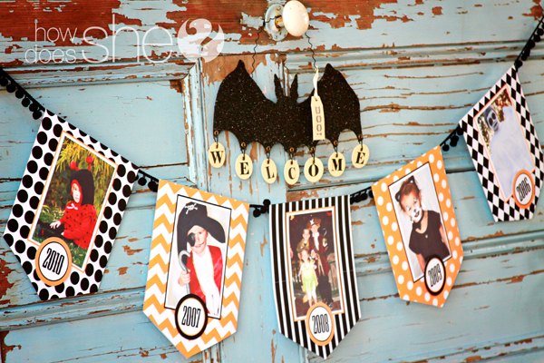 picture about Printable Halloween Banners named Absolutely free printable Halloween photograph banner package Chickabug