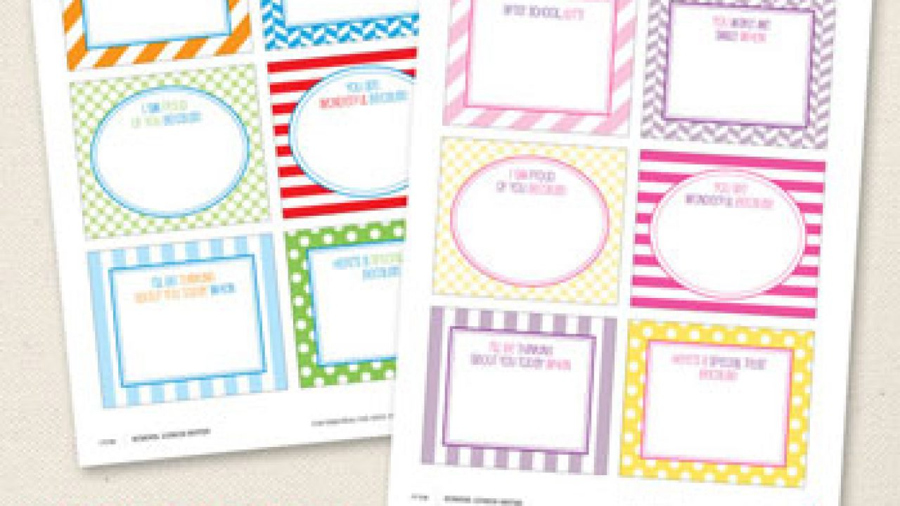 graphic about Free Printable Lunchbox Notes for Husband named No cost printable faculty lunch notes Chickabug