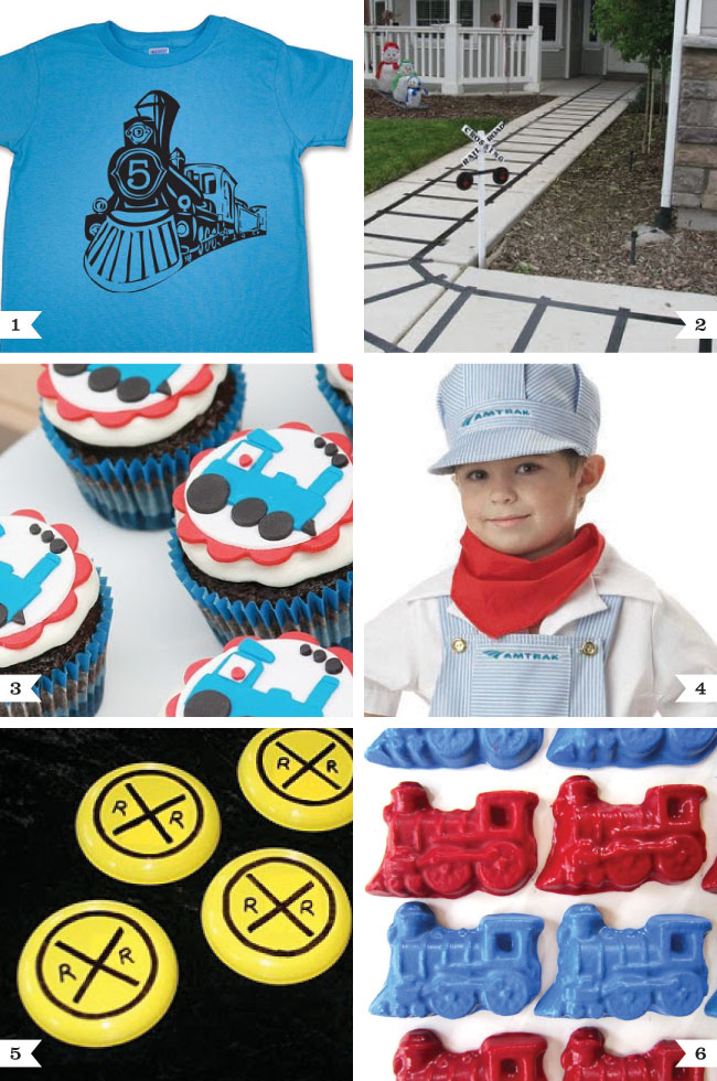 Great ideas for a train theme birthday party!