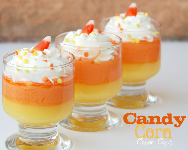 Candy corn cream cups recipe