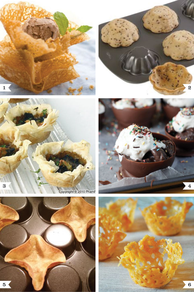 How to make cute little food cups and mini dessert bowls