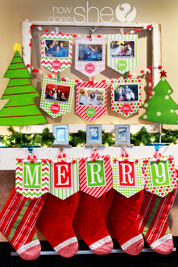 It is an image of Christmas Banner Printable intended for blank