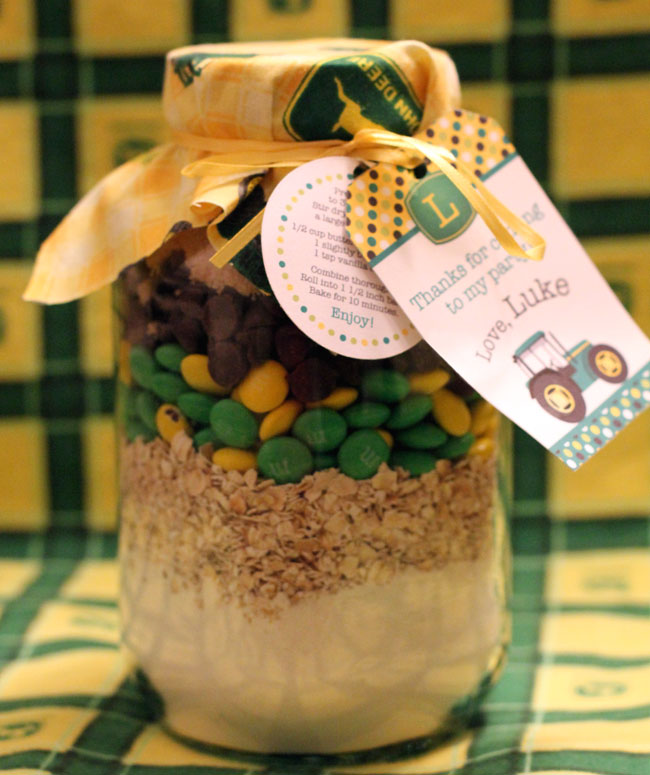 John Deere cookie mix in a jar