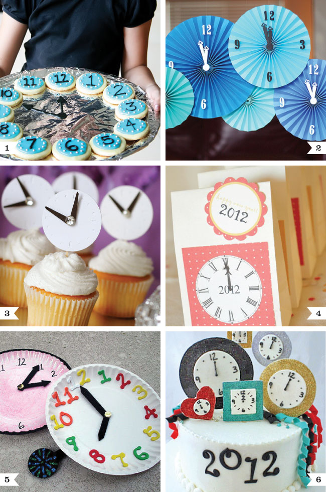 New Year's Eve party ideas - all with a clock theme