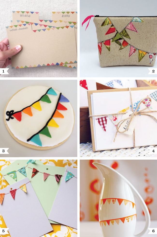 Bunting themed DIY projects - cute and easy ideas!