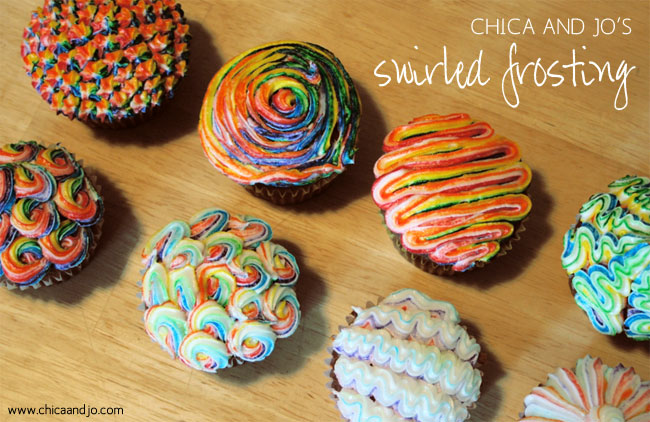 How to make swirled frosting