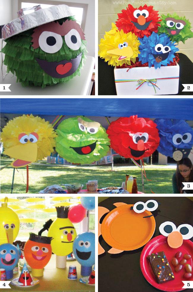 Elmo Bedroom Decorating Ideas: Sesame Street Party Decor Ideas (fun With Faces!)