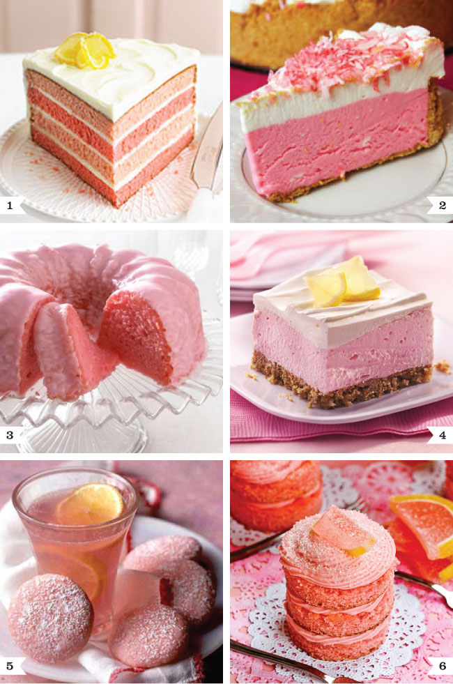 Pink lemonade dessert recipes