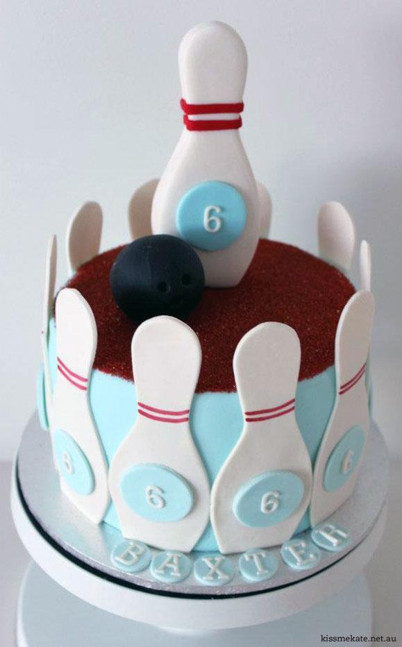 Decoration Gateau Theme Bowling