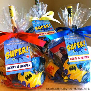 Superhero Party Favor Bags Chickabug