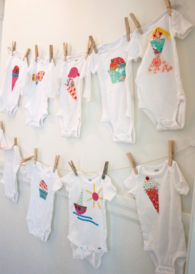Baby shower activity idea - a onesie station!