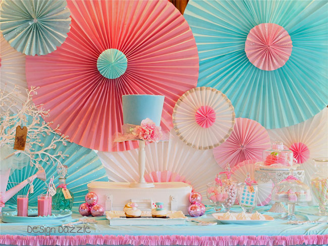 One Pretty Pin Diy Paper Rosette Backdrop Chickabug