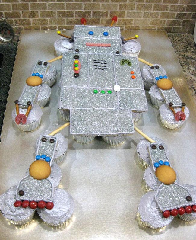 Enjoyable How To Make A Robot Birthday Cake Chickabug Funny Birthday Cards Online Alyptdamsfinfo