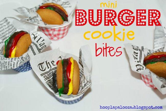 Mini burger cookie bites - a no-bake recipe!