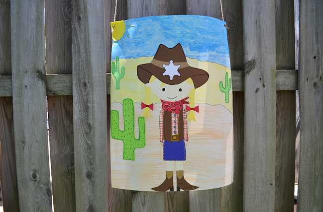 Country western party games - pin the badge on the sheriff