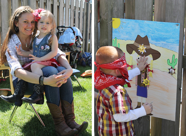Country western party games - pin the badge on the sherriff