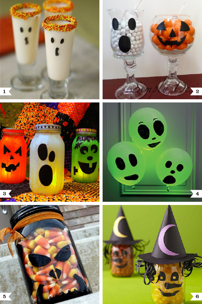 Easy Halloween craft projects: Fun with faces! #diy #halloween #partyideas