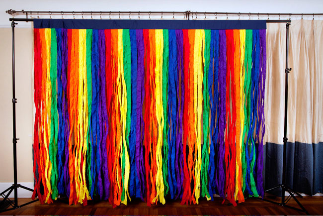 Rainbow party backdrop by The High Five Factory