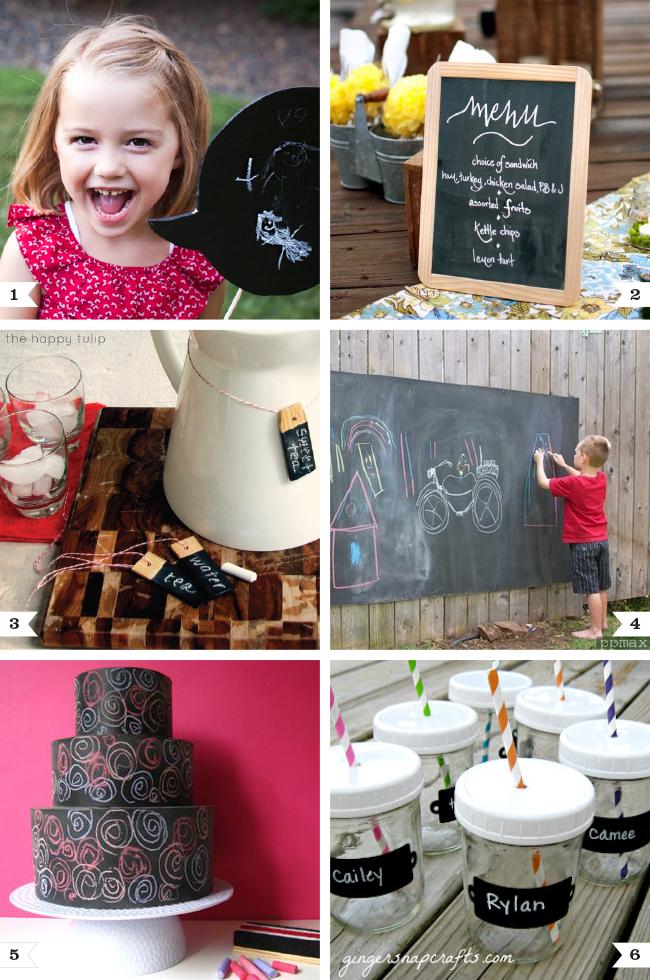DIY chalkboard ideas for parties