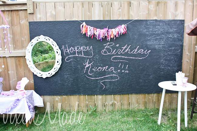 Fancy Nancy party - DIY chalkboard