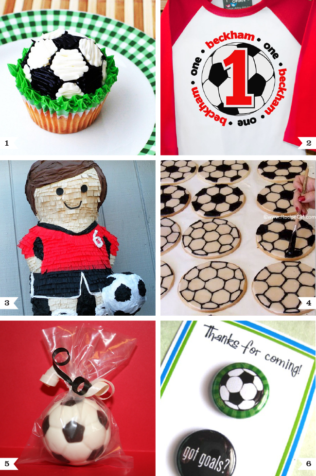 Soccer birthday party ideas & favors