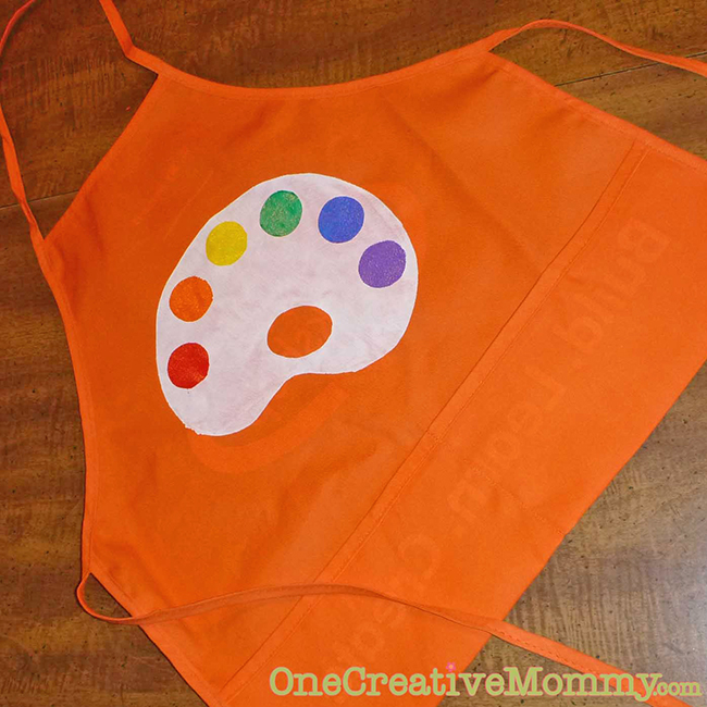 DIY art aprons - so cute for an art party!