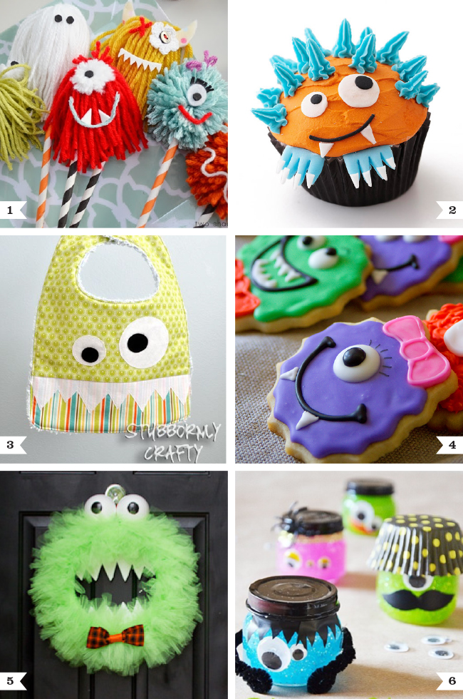 Cute monster desserts and crafts
