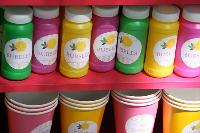 Bubbles! - Pink lemonade birthday party
