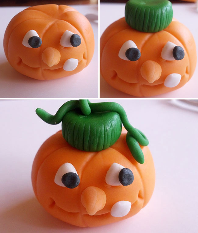 How to make a gum paste jack o'lantern - by Just Sugar Coat It, featured on Chickabug