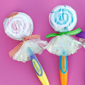 Lollipop party favors for babies