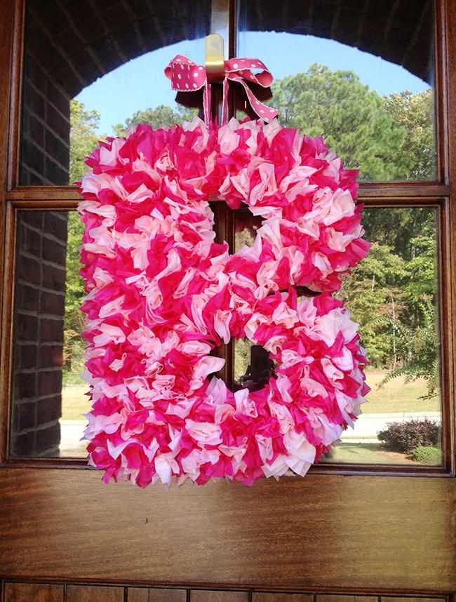 DIY tissue paper wreath tutorial