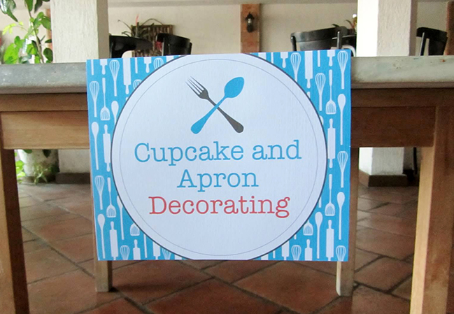 Cooking theme party - custom printable sign from Chickabug