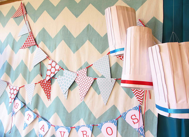 Cooking theme party backdrop