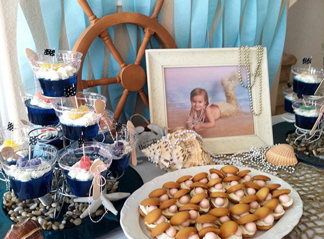 Mermaid theme birthday party food