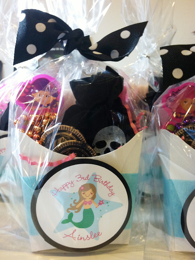 Mermaid theme birthday party favors - stickers from Chickabug