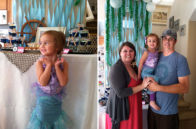Mermaid theme birthday party