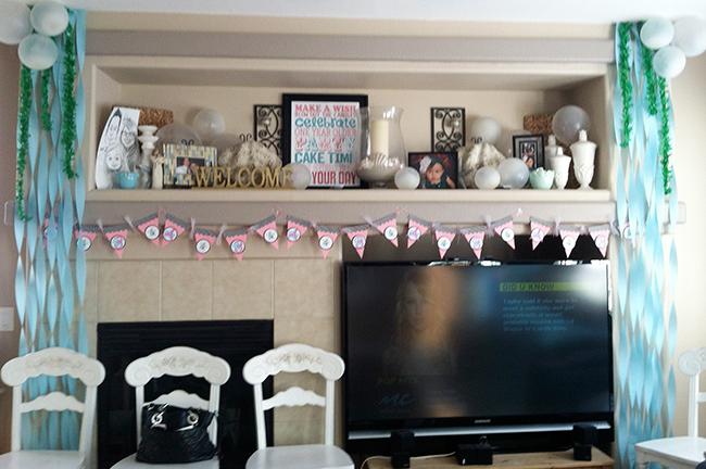 Mermaid theme birthday party decorations