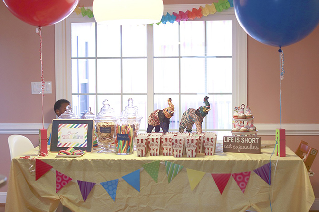 Carnival inspired birthday party table