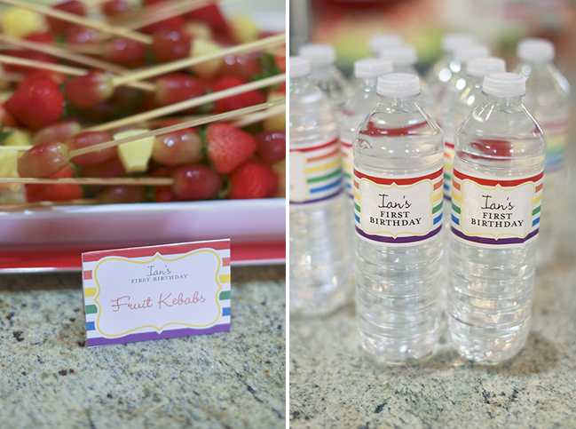 Carnival birthday party - printables and water labels from Chickabug