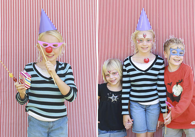 Carnival Birthday Party photo booth