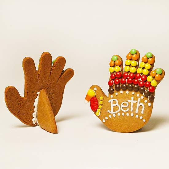 Turkey cookie place cards that stand on their own!