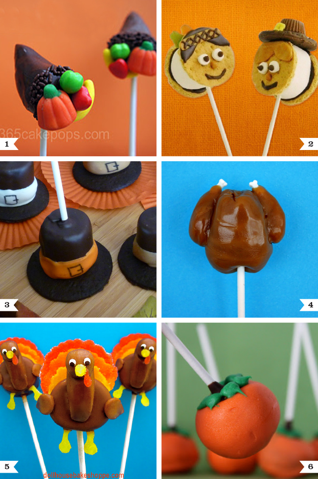 Cutest Thanksgiving treats on a stick